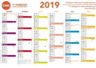 Le calendrier CFDT 2019 arrive !