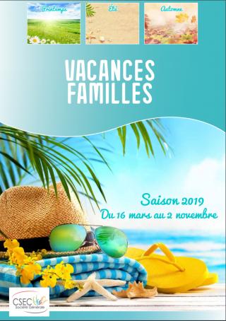 Catalogue CSEC Vacances Famille 2019