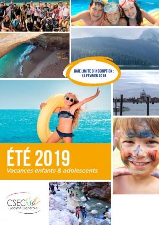 Le catalogue du CSEC colos Eté 2019 est paru