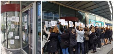Mobilisation  des salariés  du CDS de Saint Quentin en Yvelines