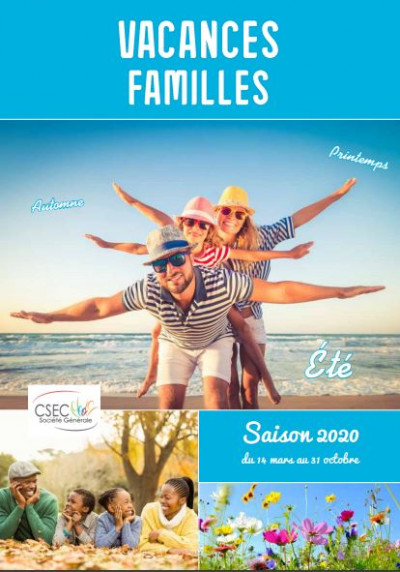 Le catalogue CSEC  Vacances  Famille 2020
