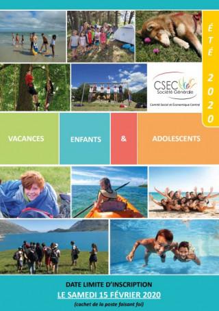 Le catalogue du CSEC Colo été 2020 est paru