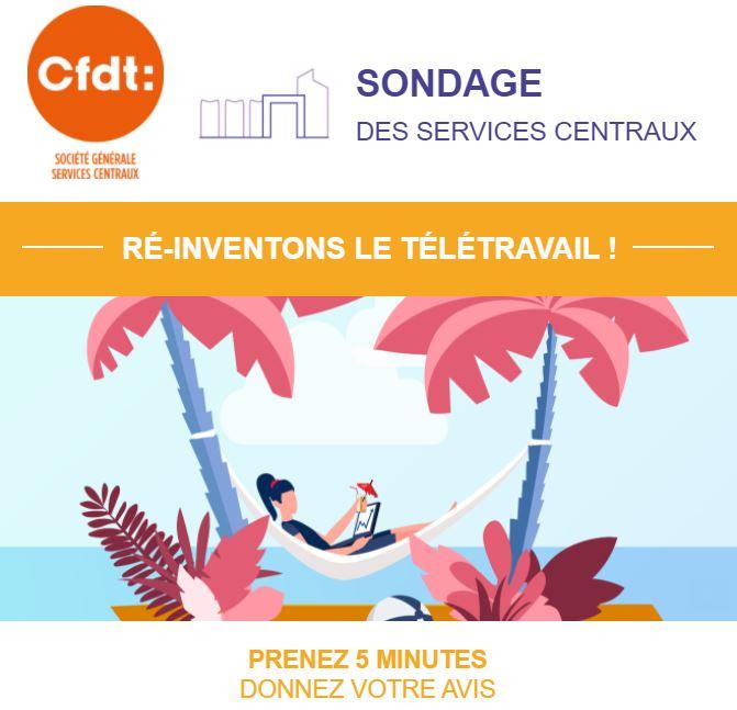 Salariés des services centraux de paris et de province, exprimez-vous sur le télétravail !