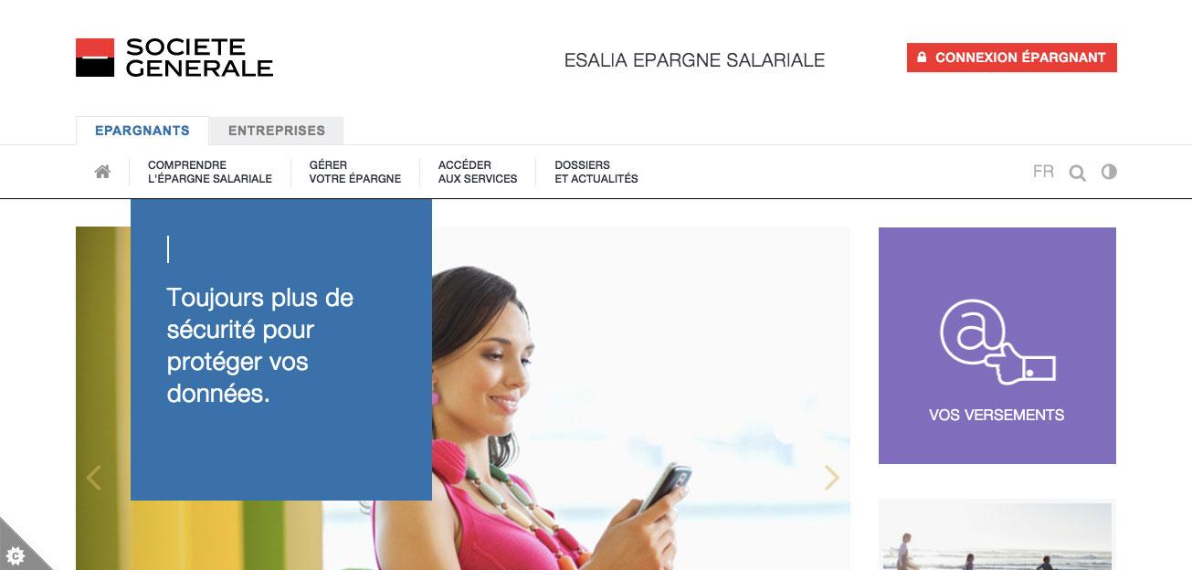 Esalia - Epargne Salariale Société Générale