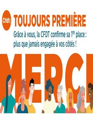 CFDT Toujours première dans le secteur privé et chez les cadres !