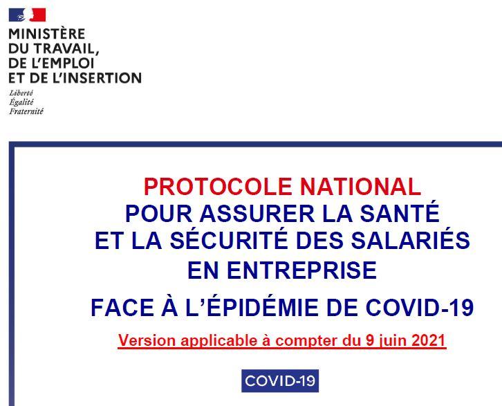 Nouveau protocole sanitaire nationale en entreprise