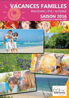 Vacances d'été 2016, le catalogue CCE est paru
