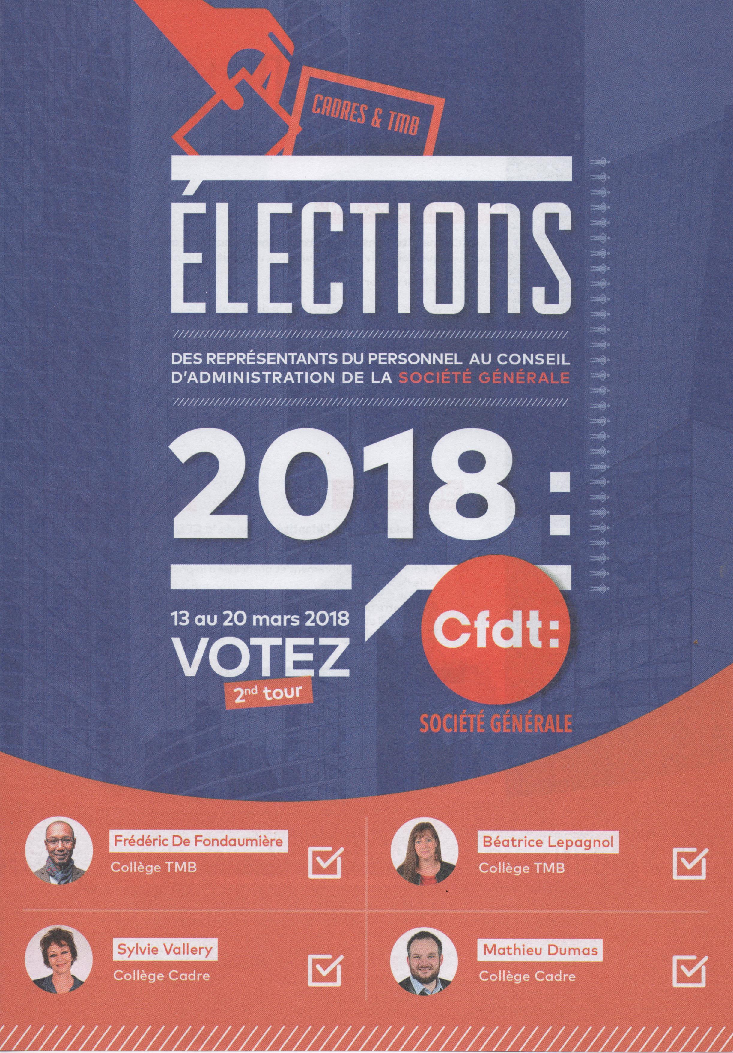 Election au Conseil d'Administration : Votez et faites voter CFDT